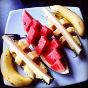 Banane, Wassermelone, Ananas