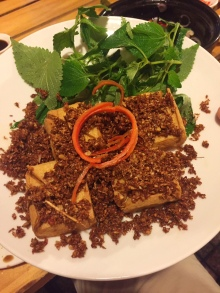 Gebratener Tofu mit Zitronenmelisse